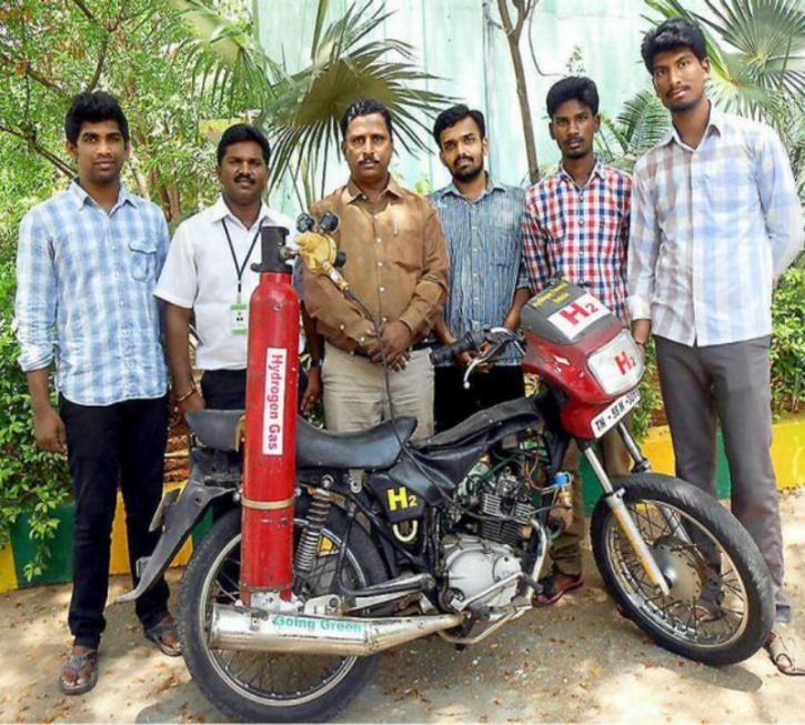 now bike run with hydrozen gas